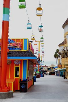 Take in the view from above at the Santa Cruz Boardwalk. Santa Cruz California, California Love, California Travel, Santa Cruz Boardwalk, Beach Boardwalk, Places To Travel, Places To See, Santa Cruz Beach, Adventure Is Out There