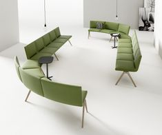 Made from high-quality moulded foam, A-Bench is a modular system that can be configured into linear, curved or angled elements. Design by for . Lounge, Furniture Design, Bench, Interior Design, Chair, Home Decor, Collection, Conference Room, Modern Interiors