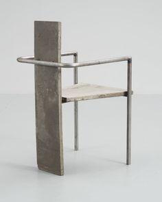 Jonas Bohli; 'Concrete' Armchair, 1981.