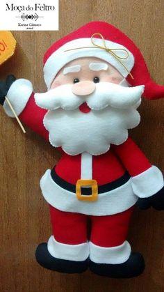 Patrones y Moldes de Santa Papa Noel Christmas Elf Doll, Felt Christmas Ornaments, Christmas Sewing, Noel Christmas, Christmas Decorations Sewing, Handmade Christmas Crafts, Felt Decorations, Christmas Classroom Door, Christmas Card Template
