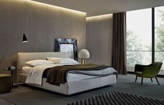 An upholstered bed designed by Jean-Marie Massaud for Poliform, Jacqueline is characterized by a soft cover with visible stitching. Bed Linen Australia, Italian Furniture Design, Jean Marie, Stylish Beds, Bed Sets, Cool Beds, Bed Design, Luxury Bedding, Bedding Sets