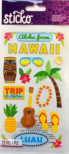 FREE SHIPPING  Aloha Tropical Hawaii  by PlayingWithColor2 on Etsy