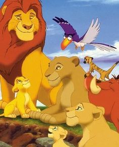 Familia del Rey León. Walt Disney.