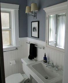 7 Ultimate Clever Tips: Small Bathroom Remodel Vintage bathroom remodel shower small.Bathroom Remodel Ideas For Teens. 1920s Bathroom, Vintage Bathrooms, Small Bathroom, Bathroom Grey, Bathroom With Beadboard, Bathroom Plants, Modern Bathroom, Minimalist Bathroom, Bathroom Towels