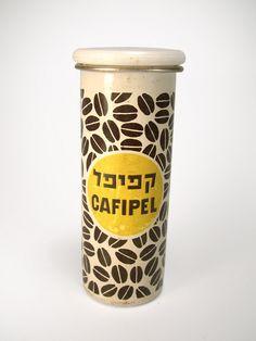 Vintage Israeli coffee tin | Cafipel