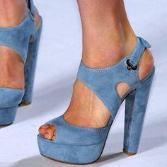 2016 Shoespie Blue Platform Sandals