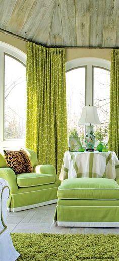 . Green Home Decor, Interior Decorating, Interior Design, Family Rooms, Eclectic Style, E Design, Colorful Decor, Envy, Living Room Decor