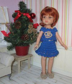 Pour ce 9eme  jour du calendrier de l'Avent, je vous propose un modèle gratuit de tenue de fête pour les Paola Reina ou les Chéries        ...