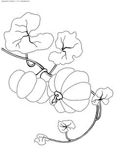 Pumpkin Coloring Pages Leaves Free Printable Cards Drawings Image Stitching Couture Drawing S