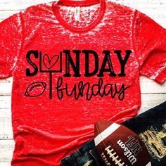 Excited to share this item from my shop: Football SVG / Sunday Funday SVG / Digital Cutting FIle Bleach T Shirts, Vinyl Shirts, Mom Shirts, Cute Shirt Sayings, Shirts With Sayings, Girl Sayings, Football Shirts, Sports Shirts, Create Shirts