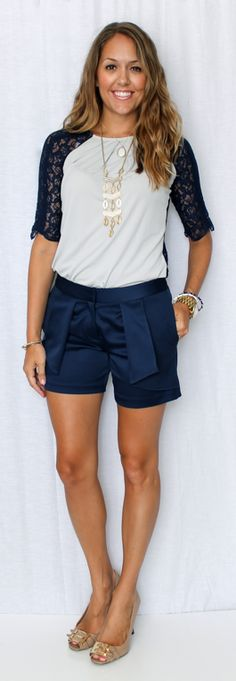 Anna Tee & Maggie Shorts as seen on the blog @J's Everyday Fashion #SpiegelStyle | Shop now: http://www.spiegel.com/anna-tee-45734.html & http://www.spiegel.com/maggie-shorts-by-newport-news-45496.html