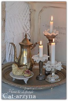 Candles and silver