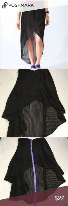 Urban Outfitters. Kimchi Blue high low skirt According style ribbed fabric. High low. VGUC some tiny threads loose. Nothing major or noticeable. Urban Outfitters Skirts High Low