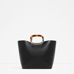 Image 1 of TOTE WITH HANDLE DETAIL from Zara