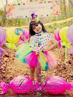 Candyland rainbow tutu www.pinktoesnhairbows.com