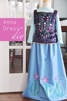 For the girls! Anna/Elsa Costume DIY - easiest one I've seen yet! Use a shirt for the top - very comfortable.