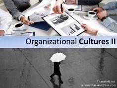 Organizational cultures II