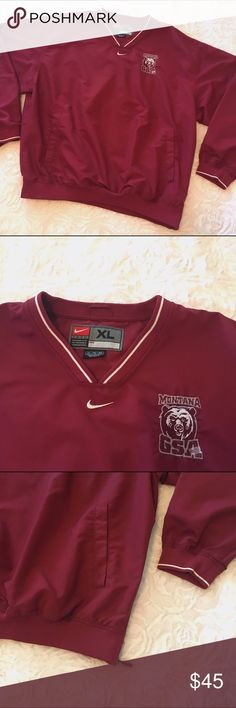 """Nike Montana Sweatshirt ✤ Montana Athletic Sweatshirt ✦ Deep red  ◈ Brand : Nike ◈ Size : Medium ◈ Condition : Good  M e a s u r e m e n t s :  Shoulder :  """" Sleeve :  """" Length :  """"  ☩ From smoke free and pet friendly home ღ Feel free to make an offer ツ Check out my closet for more clothes Nike Tops Sweatshirts & Hoodies"""