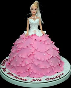 Best Barbie Birthday Cakes Ideas And Designs Girly Cakes, Fancy Cakes, Cute Cakes, Yummy Cakes, Barbie Torte, Bolo Barbie, Barbie Birthday Cake, Birthday Cake Girls, 5th Birthday