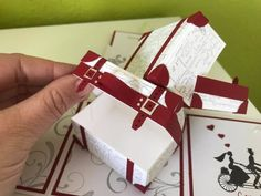 Stampin' UP! – Melli's StempelParadies Envelope Punch Board, Exploding Boxes, Stampin Up Cards, Gift Wrapping, Valentines, Gifts, Hide Money, Boxes, Diys