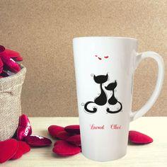 Nouveau design coeurs tissu personnaliser tasse grand cadeau idéal pour une occasion spéciale