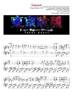 Unravel - Tokyo Ghoul - Piano - VideoScore