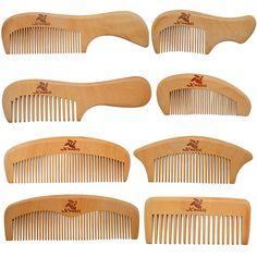 Xuanli 8 Pcs The Family Of Hair Comb - Wood with Anti-Static & No Snag Handmade Brush for Beard, Head Hair, Mustache With Gift Box Comb For Curly Hair, Hair Comb, Curly Hair Styles, Beard Head, Wood Comb, Best Hair Dryer, Tangled Hair, Hair Tools, Mustache