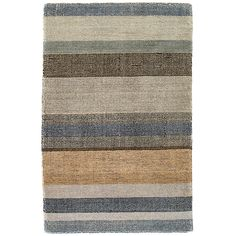 Test drive this rug in your space.Order a swatch by adding it to your cart.An updated version of our best-selling  Stonover Stripe and  Rock Hill Stripe rugs, this ultrasoft and plush hand-knotted wool area rug features stripes in shades of a desert sunset.