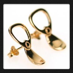 Miss Bibi Gold ring pull earrings