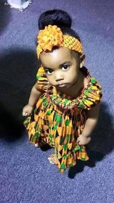 """♡""""For the love of Kente cloth"""" Fall 2014 African Attire, African Wear, African Dress, African Style, African Clothes, African Babies, African Children, Beautiful Black Babies, Beautiful Children"""