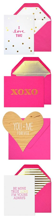 Love these valentines from Sugar Paper
