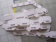 Silhouette Ticket Tutorial. Click to see her blog. Has many Silhouette projects, tutorials,etc..