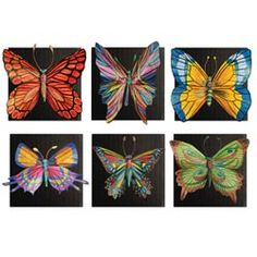 United Art and Education Art Project:  You don't have to hurt butterflies to have a beautiful butterfly collection!  Sculpt and paint your own!