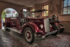 Charleston SC Vintage Fire Truck - Are you looking for images that in High Dynamic Range for your business? Contact me anytime.