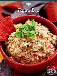 Best. Dip. EVER! Grab a chip full of David's #Fajita Dip.