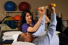 OT treatment focusing on increasing strength, coordination, range of motion, and grasp.