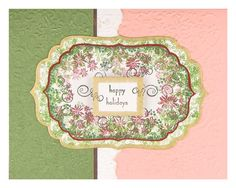 This coral and mint green card uses Rubber Stamp Tapestry's Christmas Garland Peg Stamp Set. Created by Renee Britt Lewis. http://www.rubberstamptapestry.com/Christmas_Garland_p/sho20017.htm