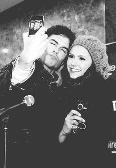 The vampire diaries.. Nina Dobrev and Ian Somerhalder lovely picture