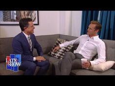 Really Funny! Listen to this. The correct way to say Alexander Skarsgard with Stephen Colbert.