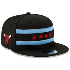bbb2905e1f4 Men s Chicago Bulls New Era Black 2018 City Edition On-Court Snapback  Adjustable Hat