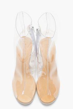 MM6 MAISON MARTIN MARGIELA Transparent Peep Toe Boots