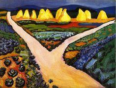 bofransson:  August Macke - 1911 Vegetable Fields