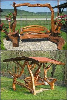 """13 Log Swings To Turn Your Backyard Into A Playground For All Ages  http://theownerbuildernetwork.co/ojd0  These rustic log swings makes it hard for the inner child in us not to pop up and say """"I want that one!""""  Would you like one in your backyard?"""