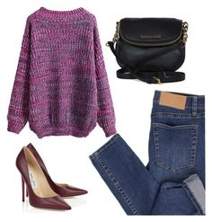 """""""Sweater Weather (if only...)"""" by angel-with-shotgun ❤ liked on Polyvore featuring Cheap Monday, WithChic, Jimmy Choo and Michael Kors"""