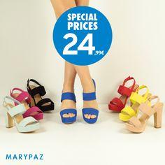 ¡ Las sandalias más coloridas las tienes disponibles en MARYPAZ !  Compra ya tu sandalia favorita AHORA con nuestros SPECIAL PRICES ¡ Un precio muy especial que no podrás resistir !  Entra ya en marypaz.com o visita tu tienda MARYPAZ más cercana descubre la Nueva Colección Primavera / Verano 2016.  #shoesobssession   Compra ya tu sandalia en color azul aquí ¡ Hay muchos colores ! ► http://www.marypaz.com/tienda-online/sandalia-de-tacon-y-plataforma-con-bandas-58997.html?sku=73524-35