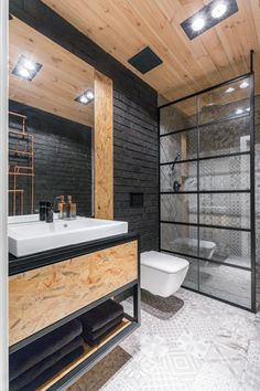Small Bathroom, Interior Inspiration, Line Design, Decoration, Bathtub, House Design, Living Room, Loft, Kitchenette