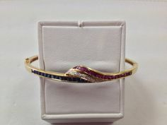 Vintage 18K Yellow Gold Ruby Sapphire and by GoldnTreasures