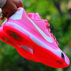ad0e4dd55f9 The Nike Kobe 10 Low PE comes dressed in an all pink upper