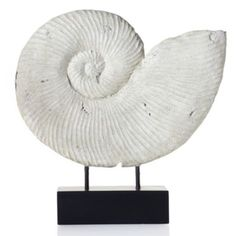 Love (shelf Display or on floor lamp w/ shelves) - Faux Fossilized Shell from Z Gallerie