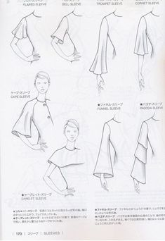 The best DIY projects & DIY ideas and tutorials: sewing, paper craft, DIY. DIY Women's Clothing : Guid to Fashion Design by Bunka fashion coollege (Japan)/ sleeves -Read Fashion Terms, Fashion Art, Dress Fashion, Fashion Sewing, Fashion Clothes, Trendy Fashion, Style Fashion, Fashion Design Drawings, Fashion Sketches